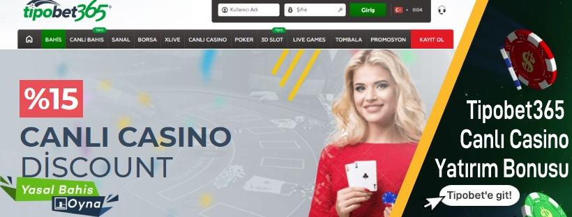 Tipobet365 Canlı Casino Yatırım Bonusu