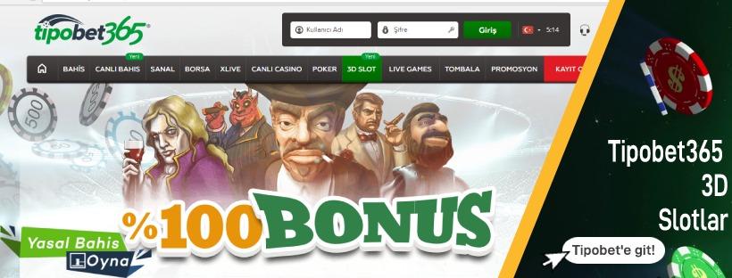 Tipobet365 3D Slot Oyunları